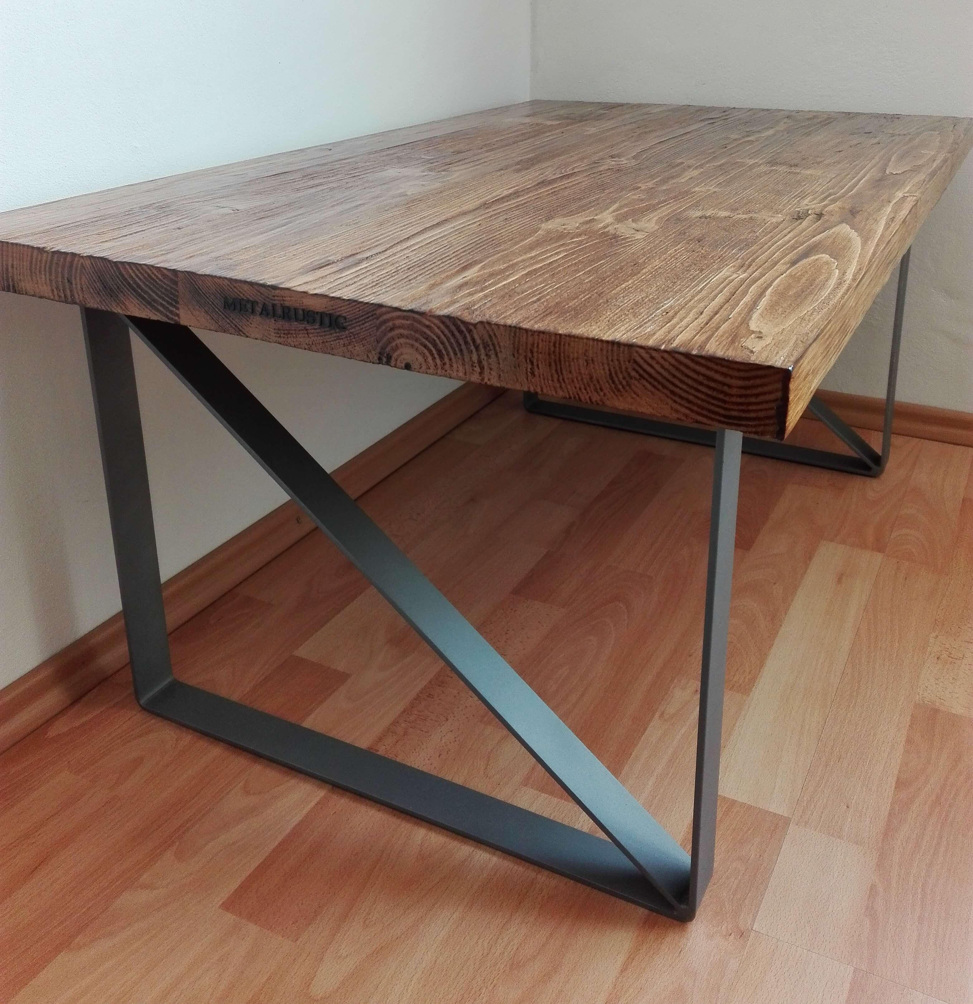 Industriálny konferenčný stôl,drevený nábytok kovaný nábytok kovaný stôl Industriální konferenční stůl dřevěný nábytek kovaný nábytek  kovaný stůl, Industrial conference table, Industrieller Konferenztisch